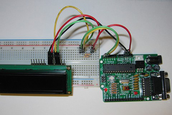 I2C Interface allows for simple LCD connectivity