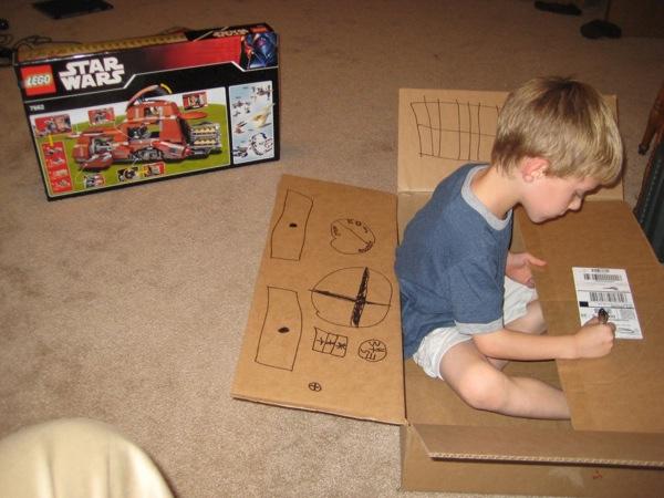 Cardboard boxes are more fun