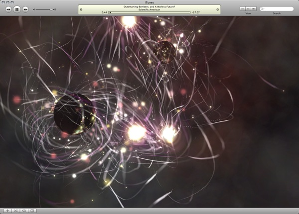 Apple's new iTunes visualizer & the open source Processing language