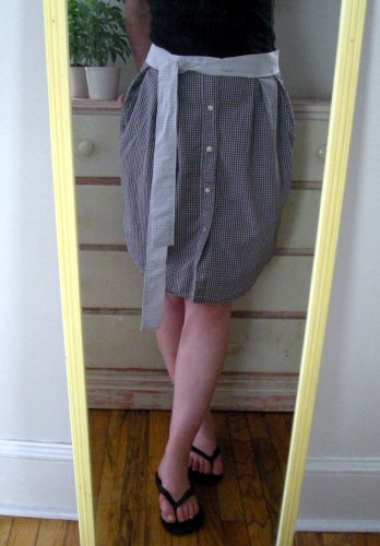 HOW TO – Refashion a Men's Shirt into a Skirt