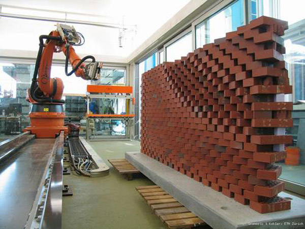 Robotic brick laying system ensures light and airflow to plants