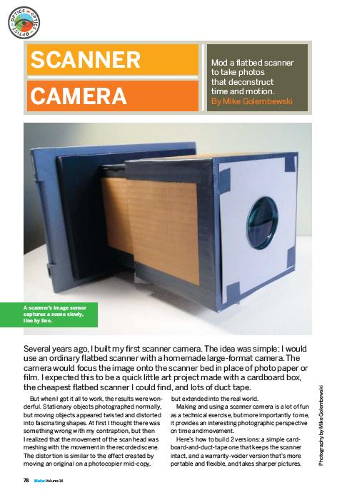 Weekend Project: Scanner Camera (PDF)