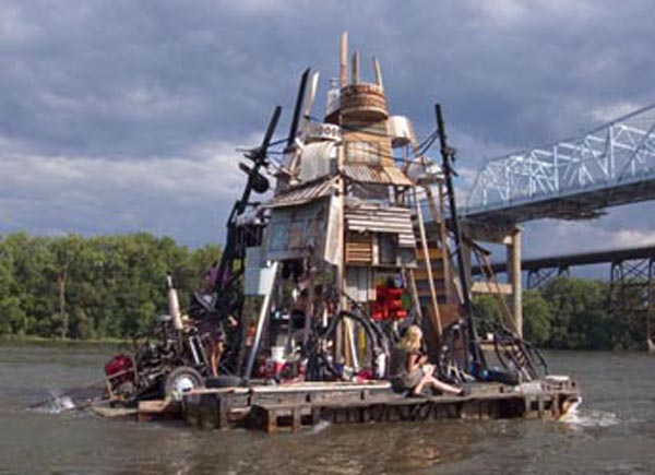 Floating ships are built from the kitchen sink and more