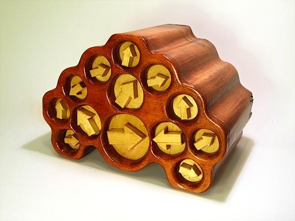 Turning-drawer wooden safe