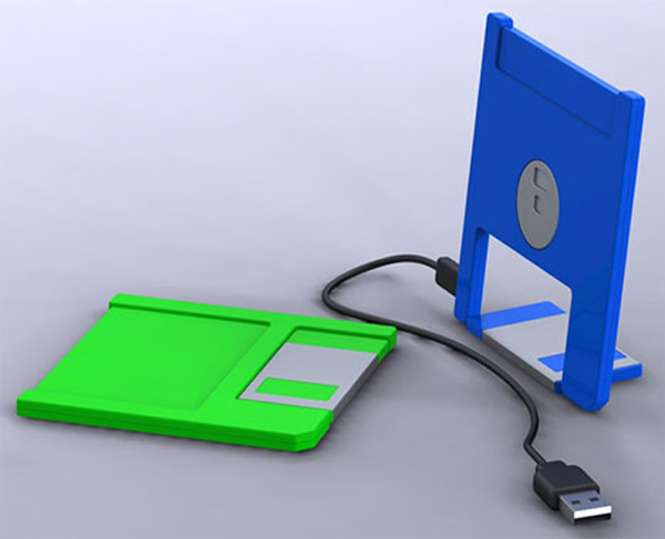 USB floppy disk brings back memory from the past