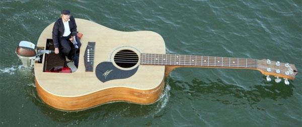 Guitar-boat