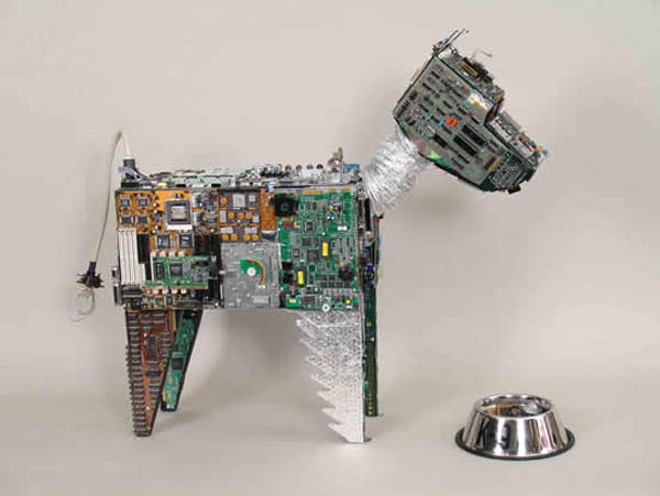 Animals made from e-waste are still your best friend