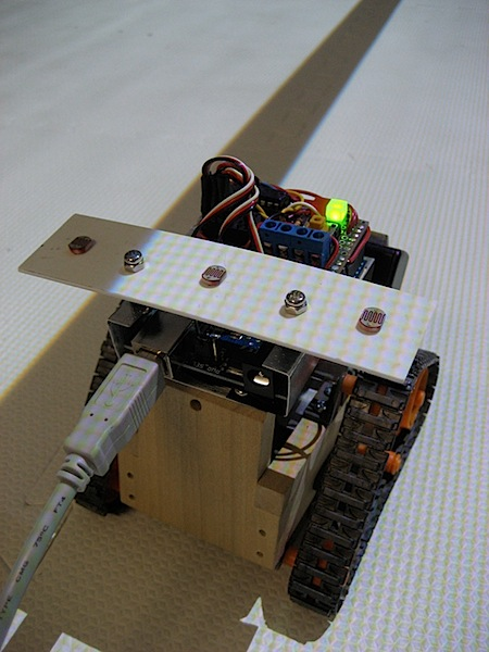 Line-following arduino robot