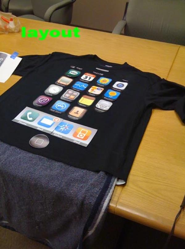 iPhone shirt costume