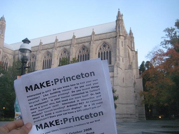 MAKE:Princeton meeting October 15