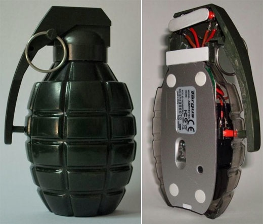 Hand grenade mouse