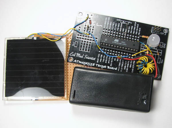 Simple solar circuits from EMS Labs