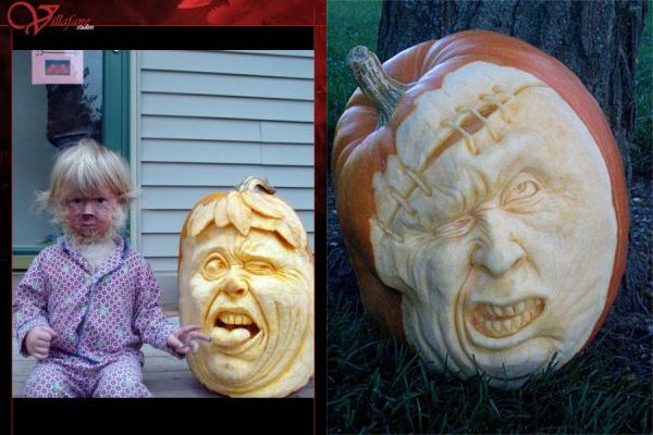 Incredible pumpkin carvings by Ray Villafane