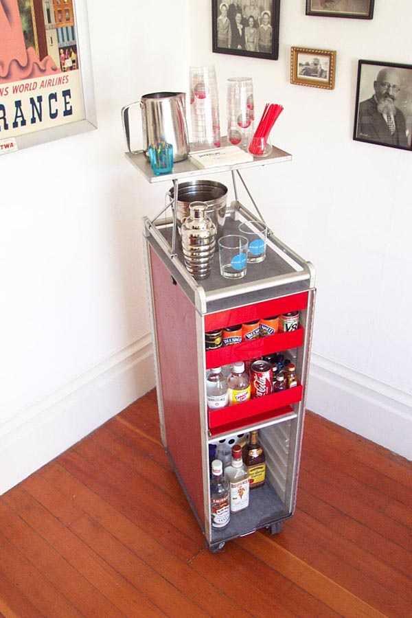 Bar from airline drink cart