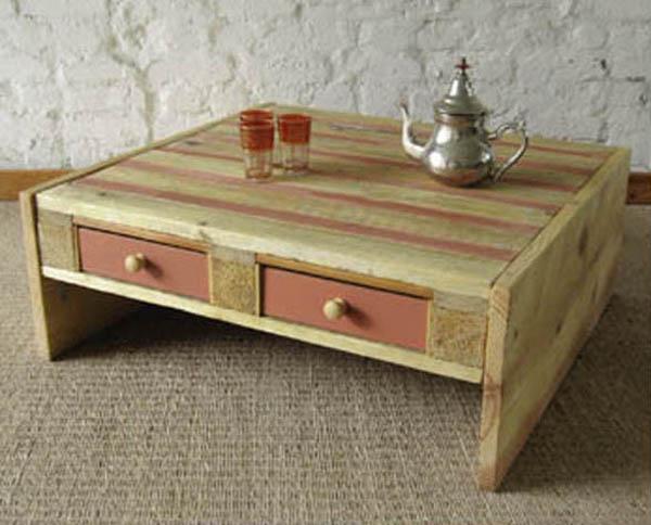 DIY: Pallet coffee table