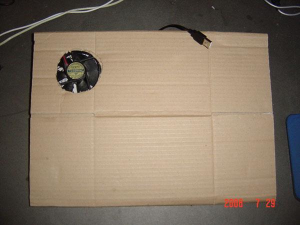 DIY: Cardboard laptop cooler