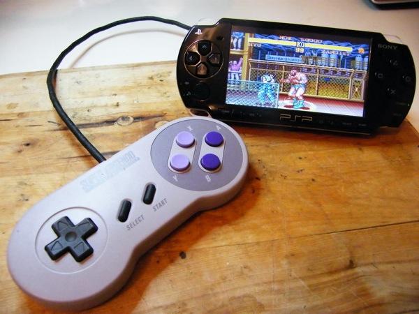 Use a Nintendo SNES controller on a Sony PSP!