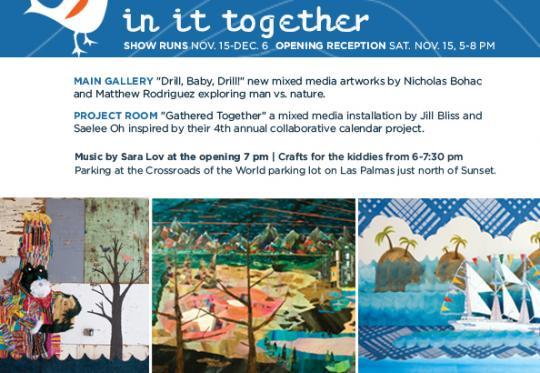 """In It Together"" @ Tinlark Gallery, Sat. November 15"