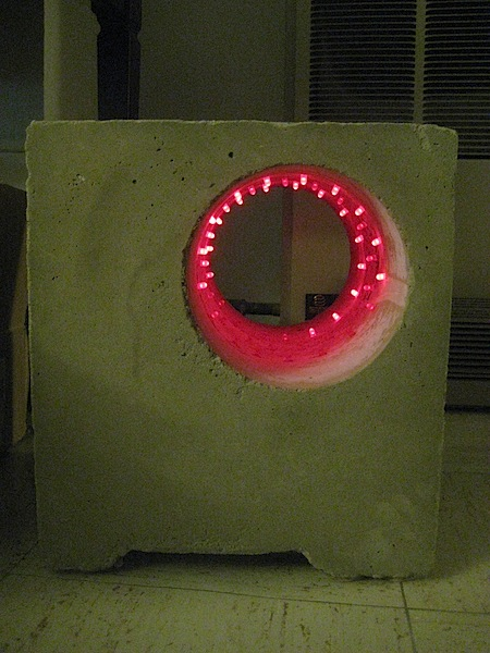 LED concrete furniture