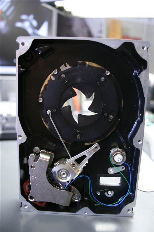 Hard drive laser shutter