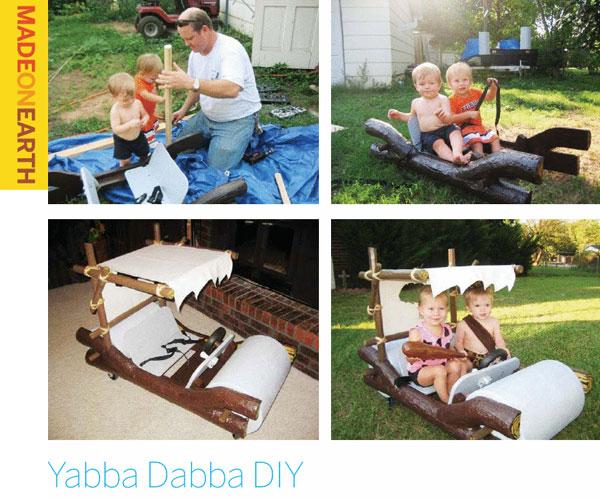 Yabba Dabba DIY – Homemade Flintstones car