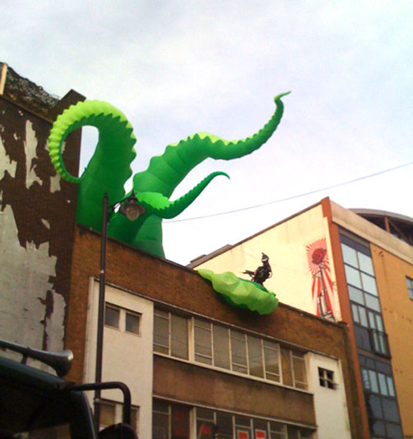 Giant inflatable octopus