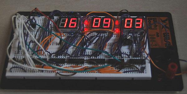 PIC digital clock project