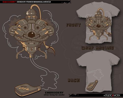 Robotic genie t-shirt