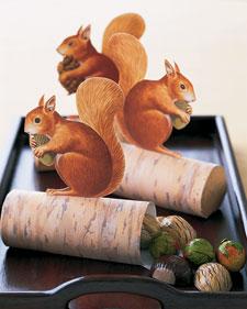 Martha's Vintage Squirrel Party Favors