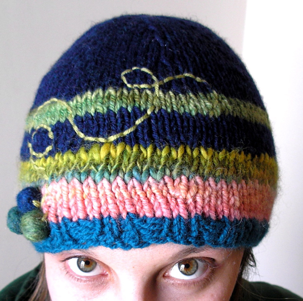 """""""Lost Balloons"""" Hand-Knit Cap"""