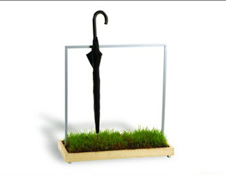 Umbrella stand will water your plants