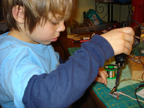 This kid can solder, can you?
