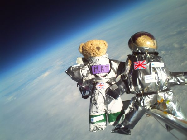 Teddies in near space