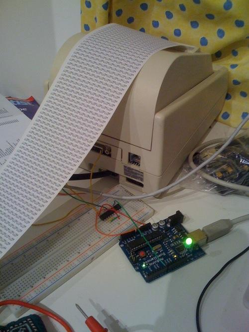 Microprinter – Google calendar, iCal, weather, Dopplr…