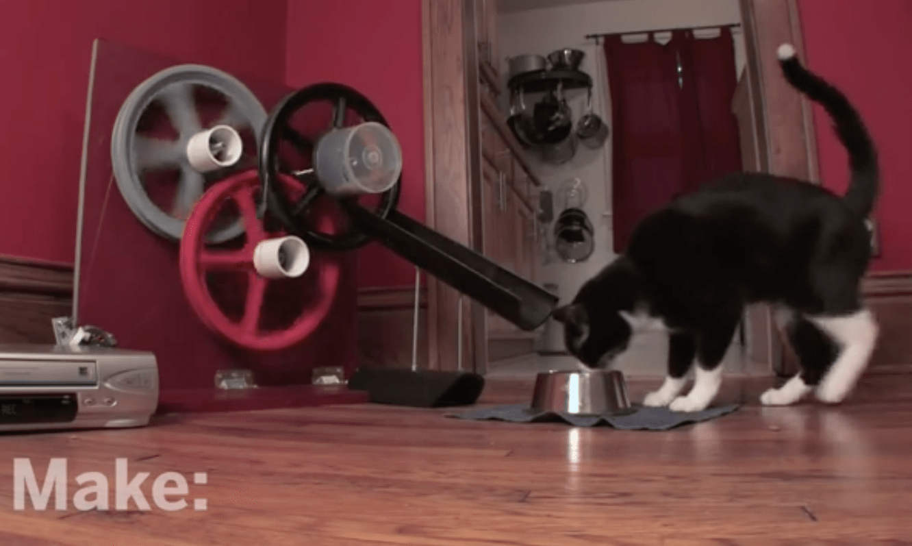 VCR Cat Feeder on MAKE: television