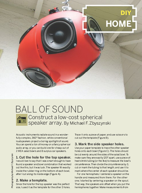 Weekend Project: Ball of Sound (PDF)