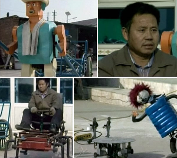 Chinese farmer's walking creations