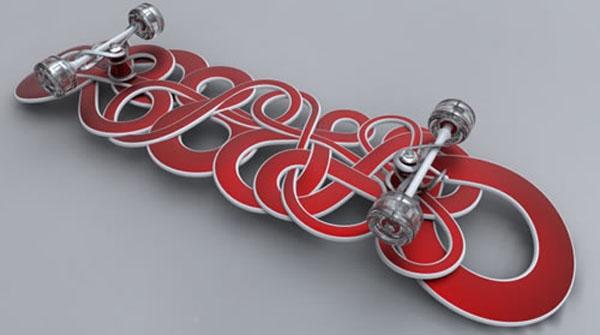 Skateboard shows its bone structure