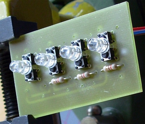 DIY LED pushbutton switches