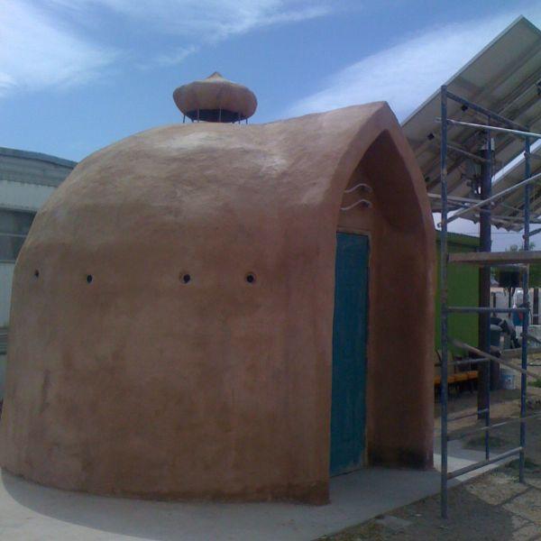 Building papercrete domes
