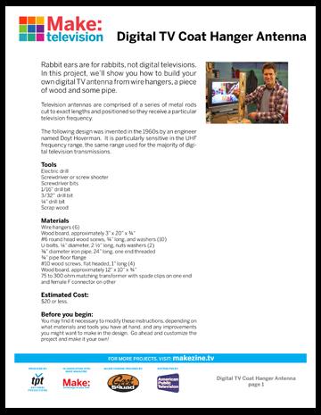 Maker Workshop PDF – DTV Antenna