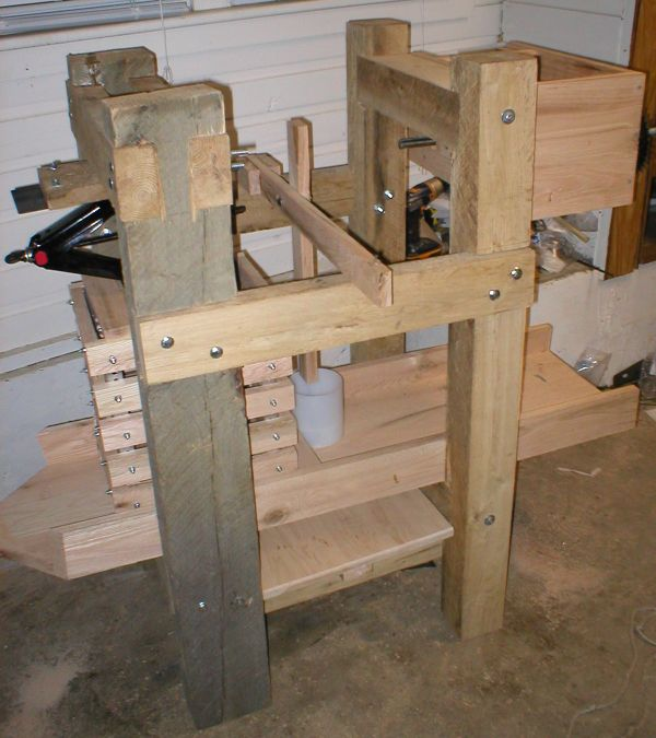 Cheese and cider press