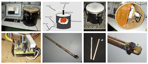 Magnetic drum system can teach you how to play it