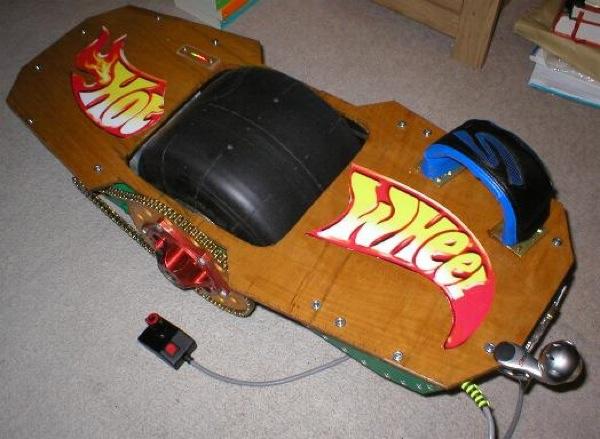 One wheeled self-balancing skateboard project