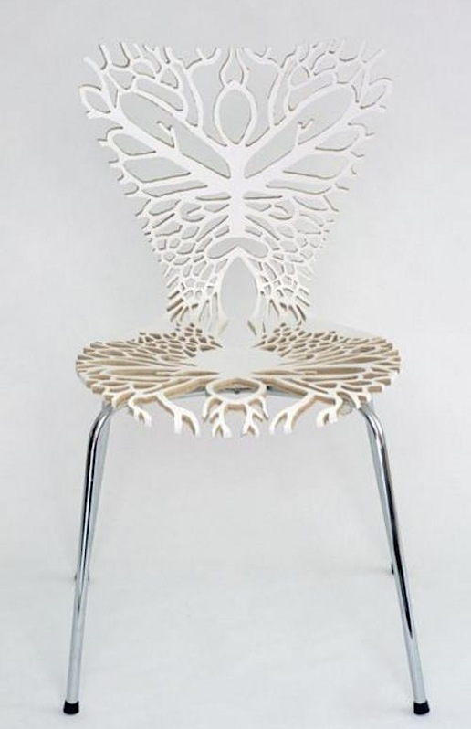 Anatomical laser-cut chairs