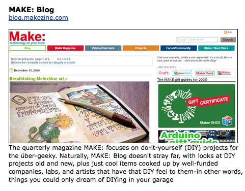 MAKE – One of PC magazine's favorite blogs