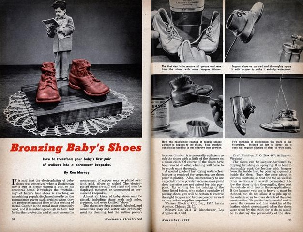 HOW TO – Bronzing baby's shoes