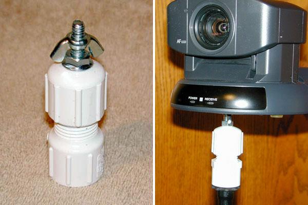 DIY Mic stand camera mount