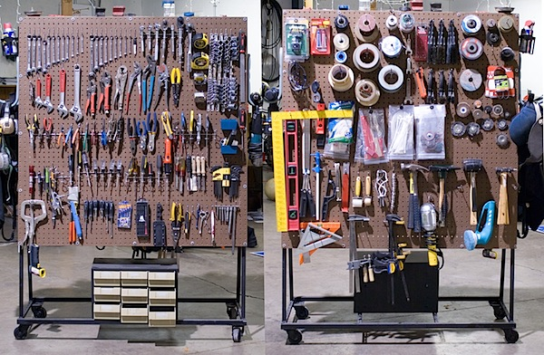 HOW TO – Rolling Peg Board Tool Cart