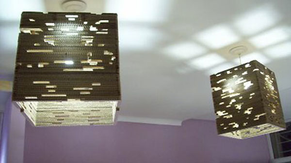 Lamps made from recycled cardboard will illuminate your world